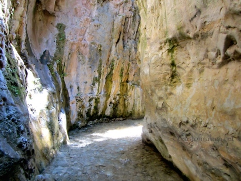 Approaching the narrow gorge, Rio Chillar, Nerja