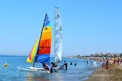 Catamarans at Torre del Mar, Spain