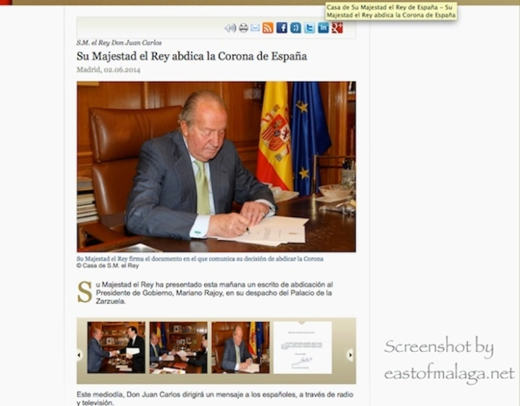 King Juan Carlos abdicates