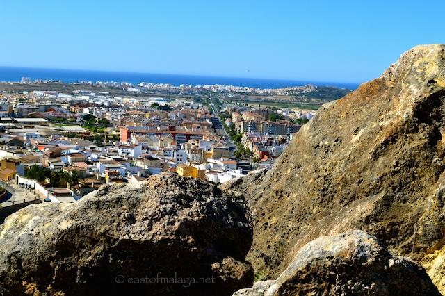 View towards the Mediterranean Sea and Torre del Mar - along Avenida de Vivar Téllez