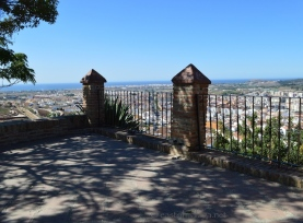 Gorgeous view from the Mirador at La Fortaleza, across Vélez-Málaga