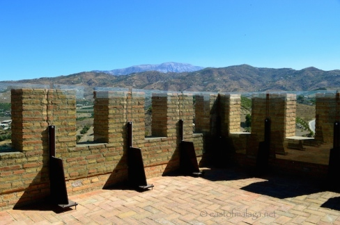 View towards La Maroma from the top of the Tower of La Fortaleza, Velez-Malaga