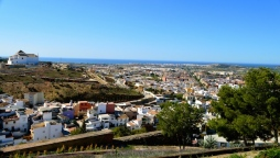 View from La Fortaleza, Velez-Malaga, towards Torre del Mar