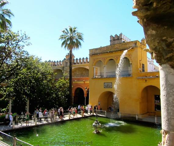 Mercury's Pool in the Alcazar gardens, Seville