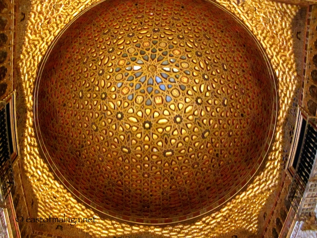 Gold ceiling of the Ambassador's Hall, Seville Alcazar