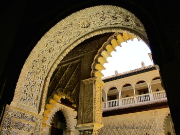 Arches inside the Alcazar, Seville