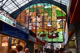 Stained glass window of Atarazanas market, Malaga