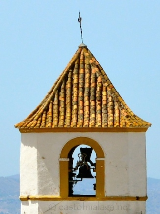 Church tower in Canillas de Aceituno