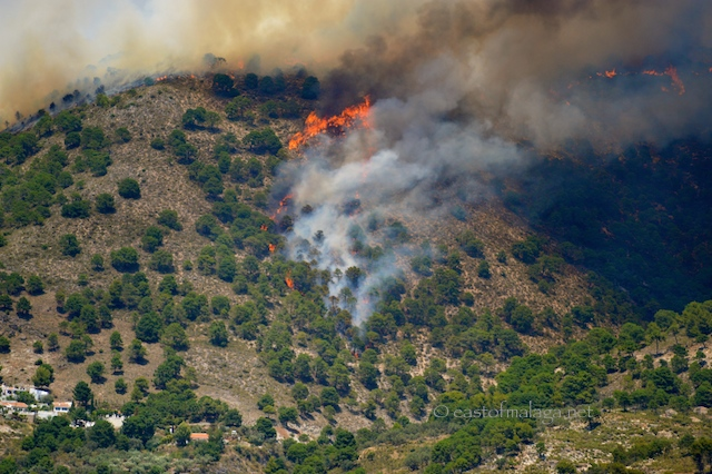 Fire in the campo, Competa