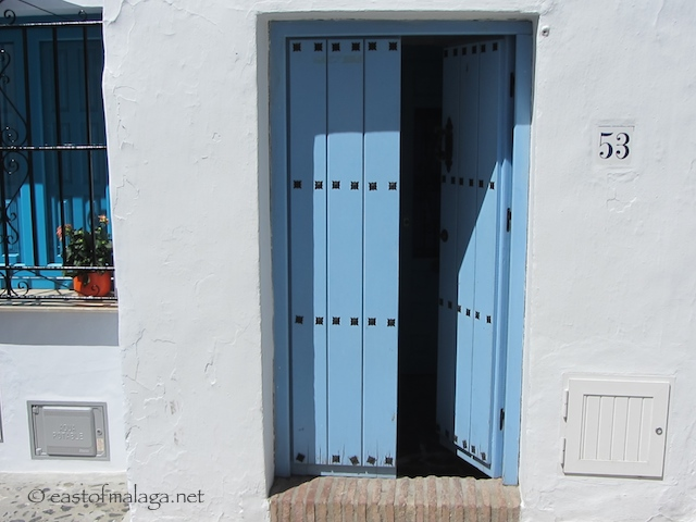 Blue door in Frigiliana, Spain