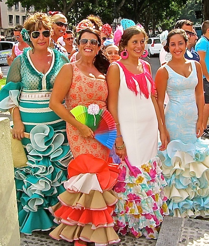 Beautiful dresses at Malaga feria