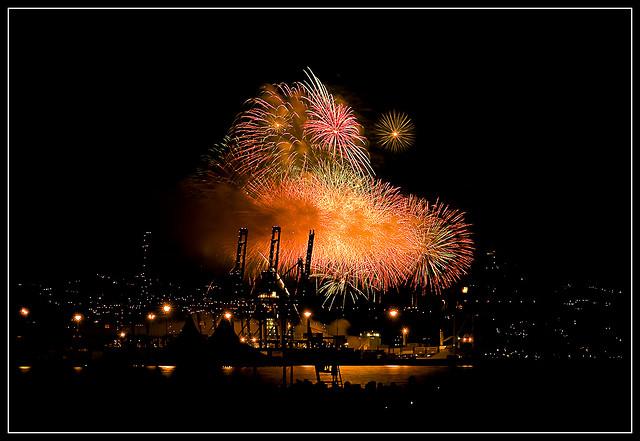 Fireworks to start the Malaga feria