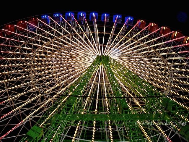 Ferris wheel at Malaga feria