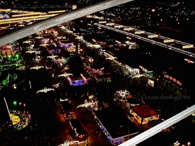 View from the Ferris wheel at Malaga feria