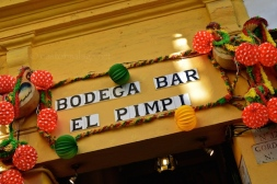The famous Bodega Bar El Pimpi