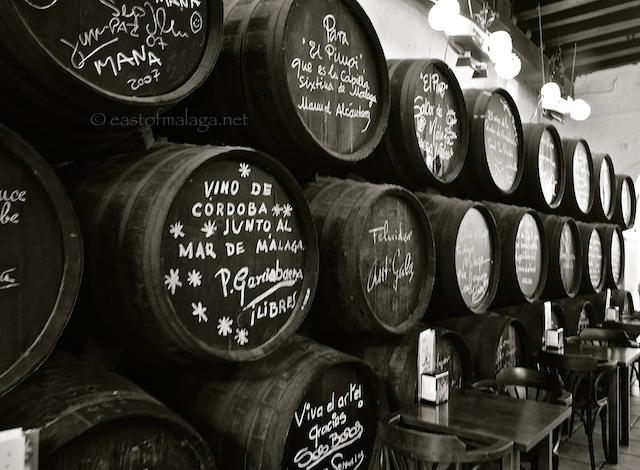 Signed Barrels Inside Bodega Bar El Pimpi Malaga East Of Malaga