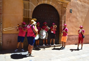 Roaming band during Malaga feria