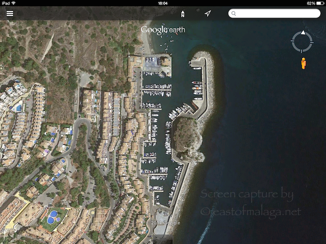 Marina del Este on Google Earth