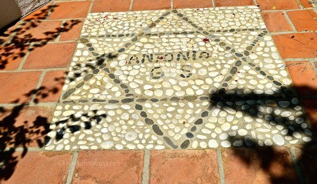Antonio's initials in stone = El Acebuchal