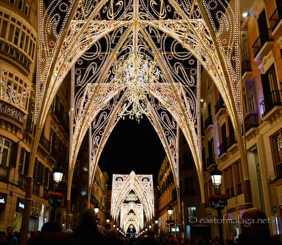 Malaga's gothic Christmas lights  2014