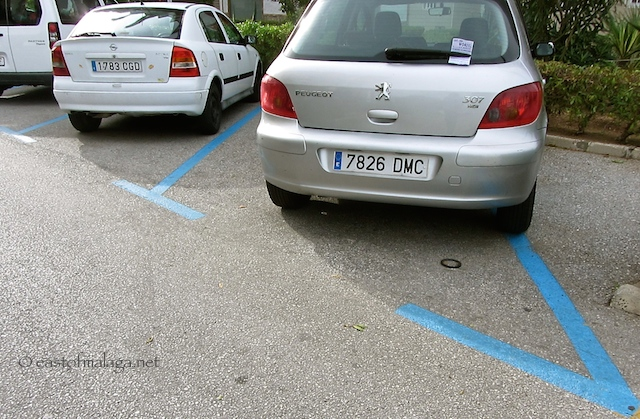 Blue zone parking