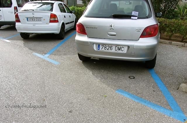 Blue zone parking