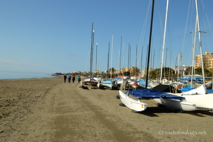 Sandy path near the boat club, Torre del Mar