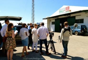 Filming in Torrox village