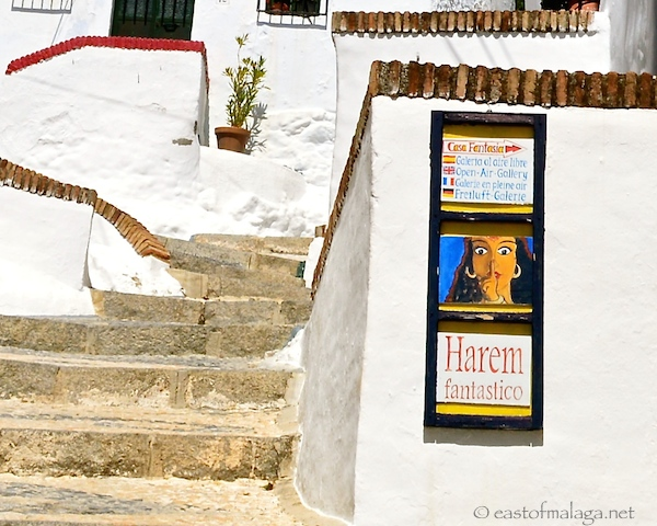 The sign for the Harem peep-show, Frigiliana