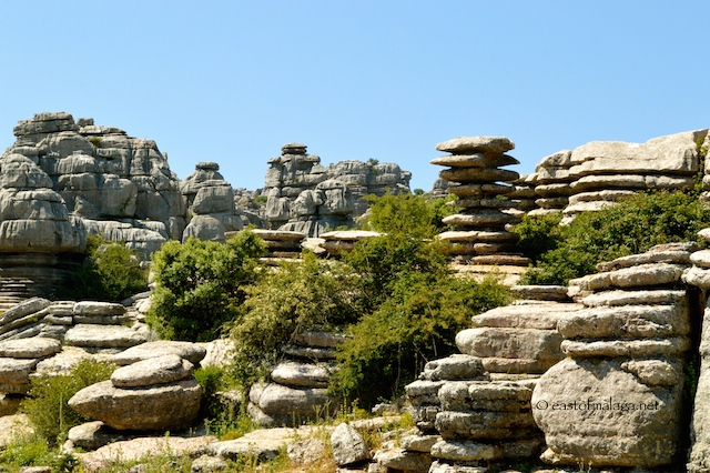 Limestone rock formations at El Torcal, Antequera