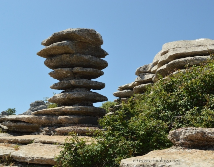 El Tornillo rock formation at El Torcal, Spain