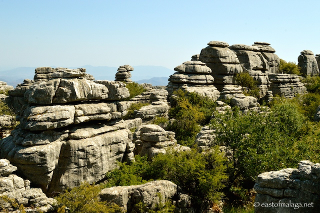 Limestone rock formations at El Torcal