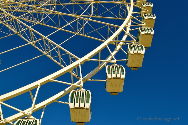 Cabins on Malaga's Ferris wheel