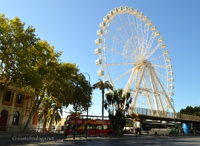 Malaga's new ferris wheel at Muelle de Heredia
