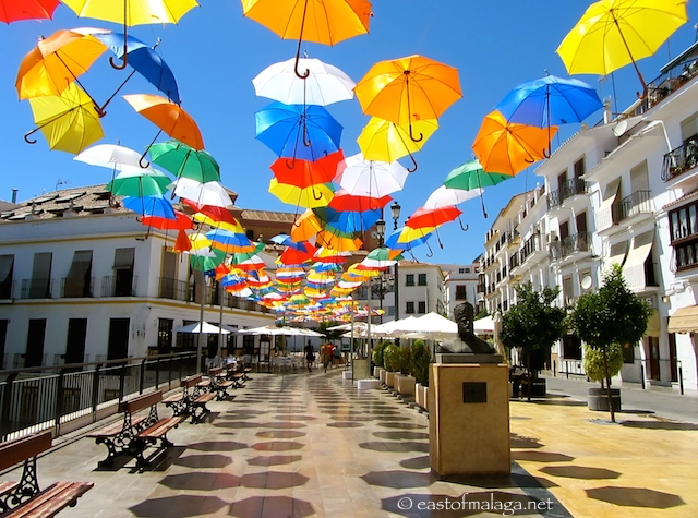 Umbrellas in Torrox pueblo