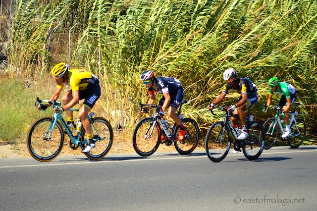 Riders in La Vuelta, Spain