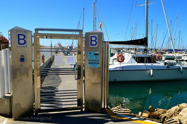 Muelle B at Caleta de Velez