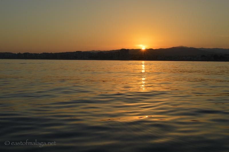 Sunset over Torre del Mar