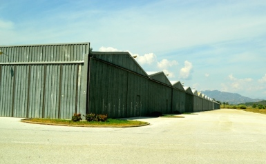Aircraft hangars at El Trapiche airport