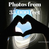 Photos from 35,000 feet: Axarquía coast and inland