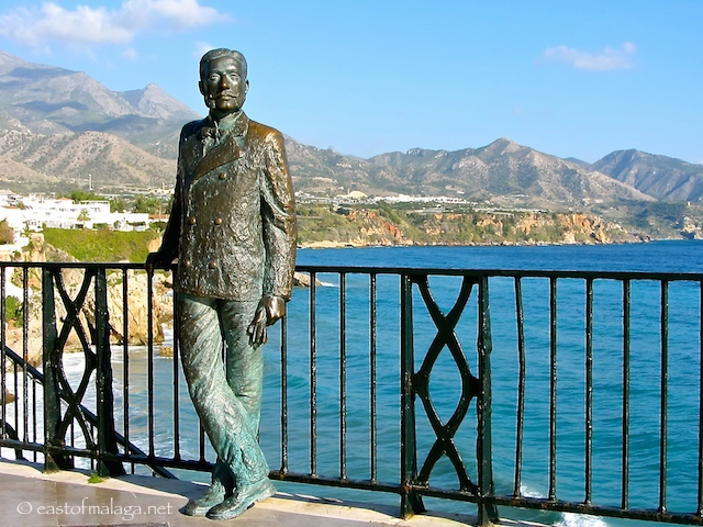 King Alfonso XII stands on the Balcón de Europa, Nerja