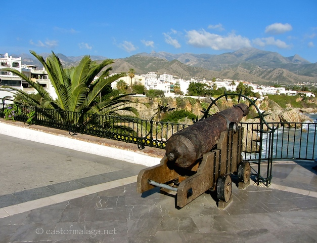 One of the old cannons on the Balcon de Europa, Nerja