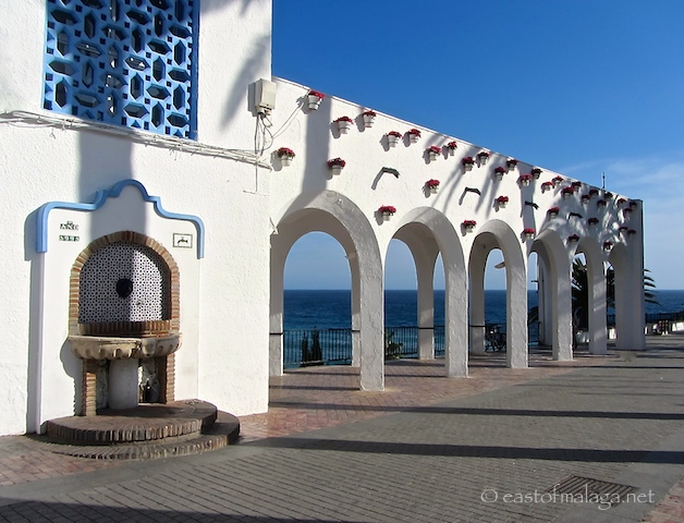 White arches on the Balcon de Europa, Nerja