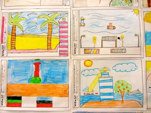 Children's drawings at the Belén