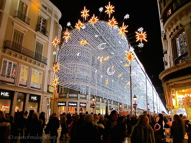 Malaga Christmas lights 2015