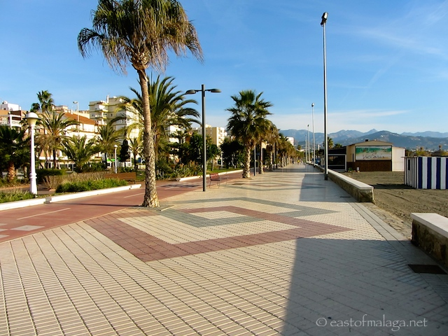 Torre del Mar's wide promenade and adjacent seafront gardens