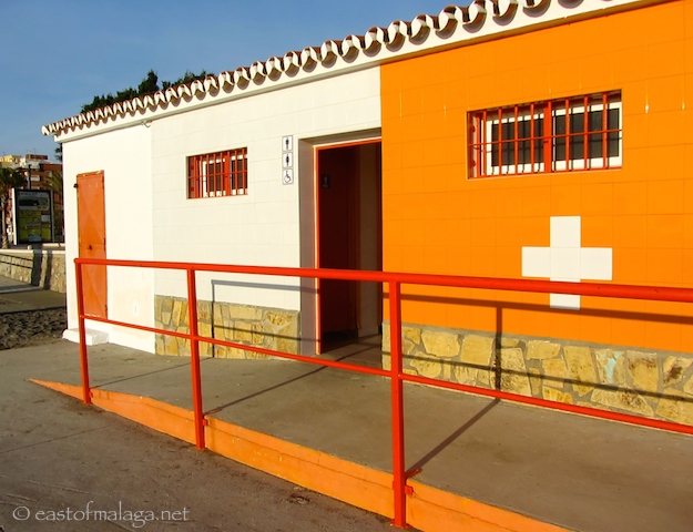 Adapted toilet facilities, Torre del Mar, Spain
