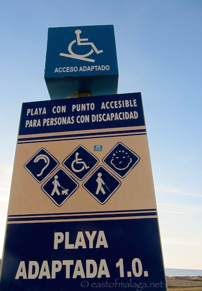 Adapted access point, Torre del Mar, Spain