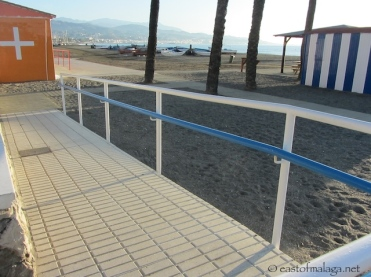 Ramps down to beach from promenade in Torre del Mar