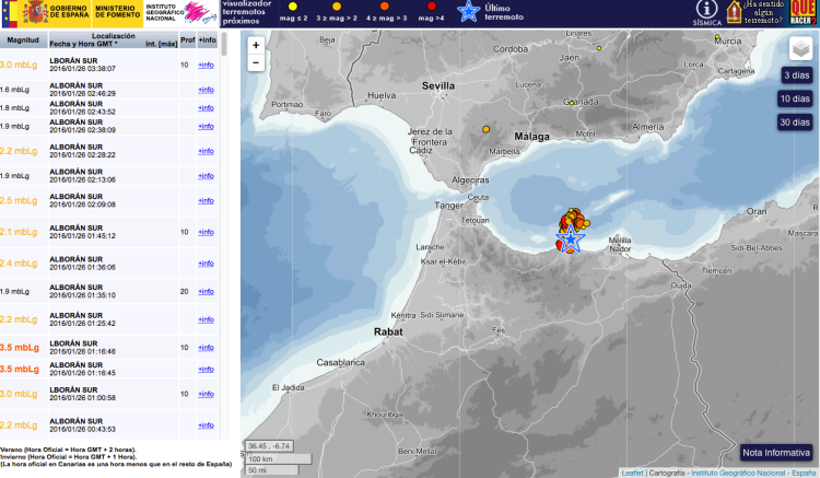 Earthquake near Malaga, Spain